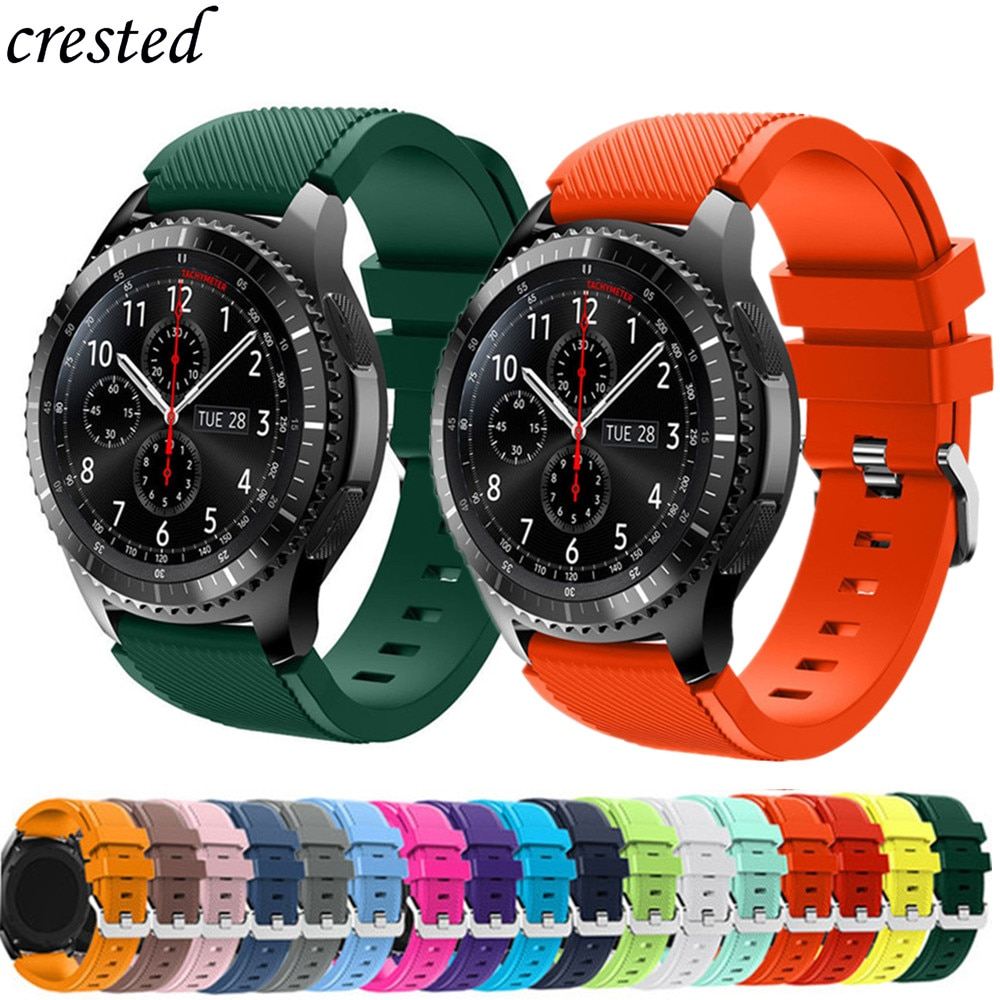 20mm 22mm Band for Samsung Galaxy Watch 3/46mm/42mm/active 2 Gear s3 Frontier/S2 silicone bracelet Huawei GT/2/2e/GT2 Pro strap