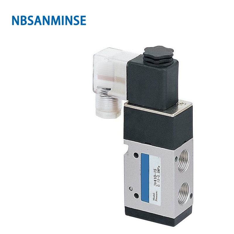 3V410 3V420 Series 1/2 G Solenoid Valve Pneumatic Control Single Double Coil 2 Position 3 Way AIRTAC Type