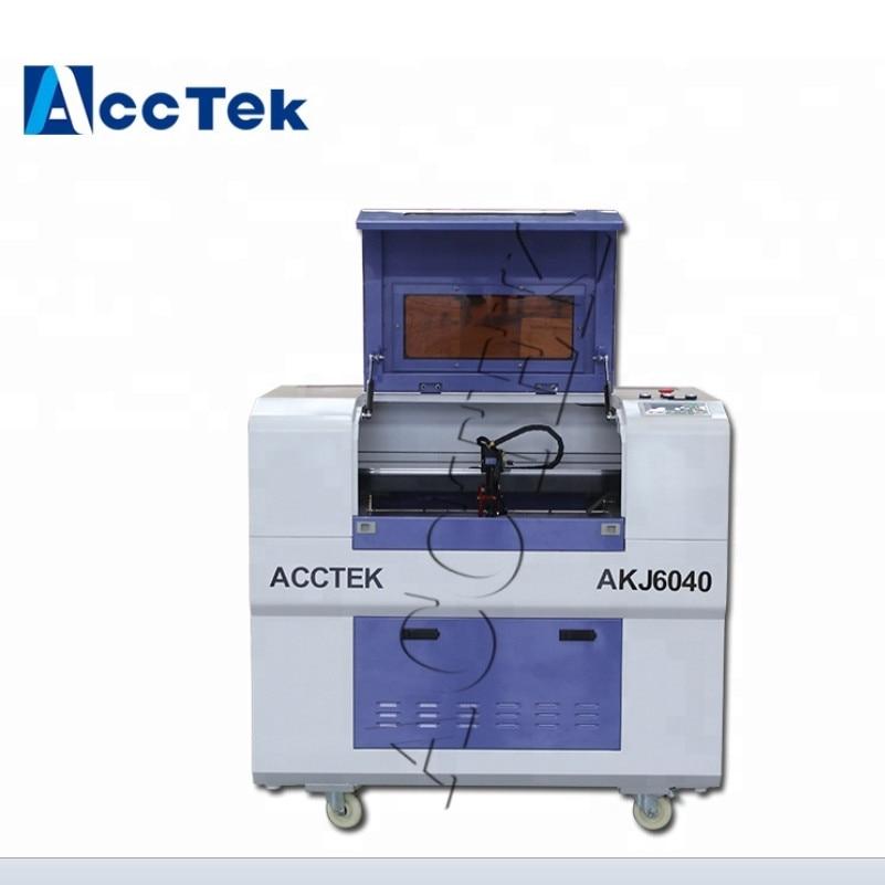 AccTek 6040 mini máquina de corte por láser, precio de la máquina de corte por láser, máquina de corte por láser co2 tubo de vidrio cnc