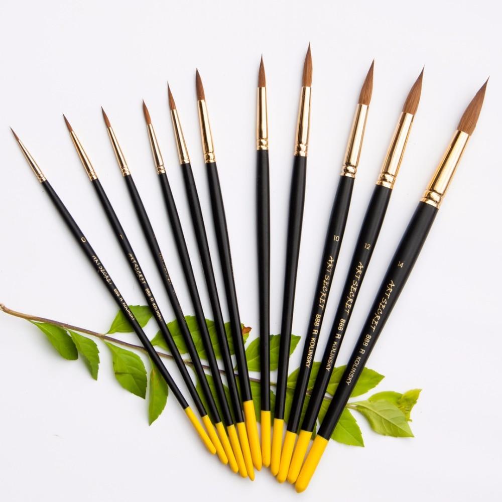 888R колинский хвост акварельные краски для волос, художественные принадлежности художественные кисти для рисования ручка для художников рисование