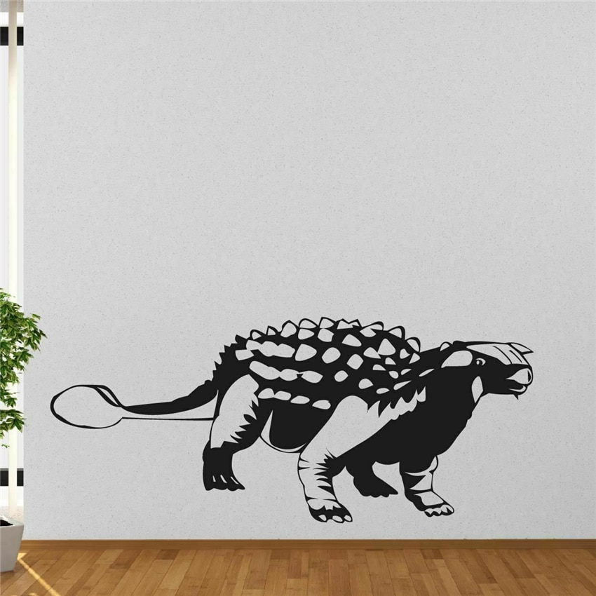 Ankylosaurus Dinosaur Wall Sticker Child Room Bedroom Decor Vinyl Mural Wall Decal Sticker Dinosaur Art Decor Home Decor MY51