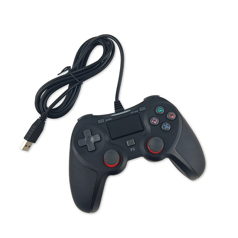 Wired Game Controller Gaming Joypad Joystick USB Gamepad For PS4 Joystick Gamepad vibration Function