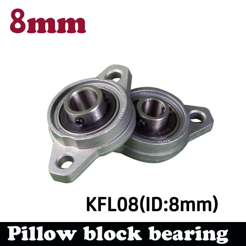 10 pcs inserção da liga do zinco KFL08 8mm rhombic rolamento do bloco de descanso rolamento linear eixo de suporte CNC parte