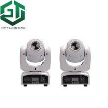 2 pz/lotto delle coperture di colore bianco 60 W LED Spot Moving Head Light alta luminosità 60 W LED DJ Luce del Punto 60 Watt gobo teste mobili luci