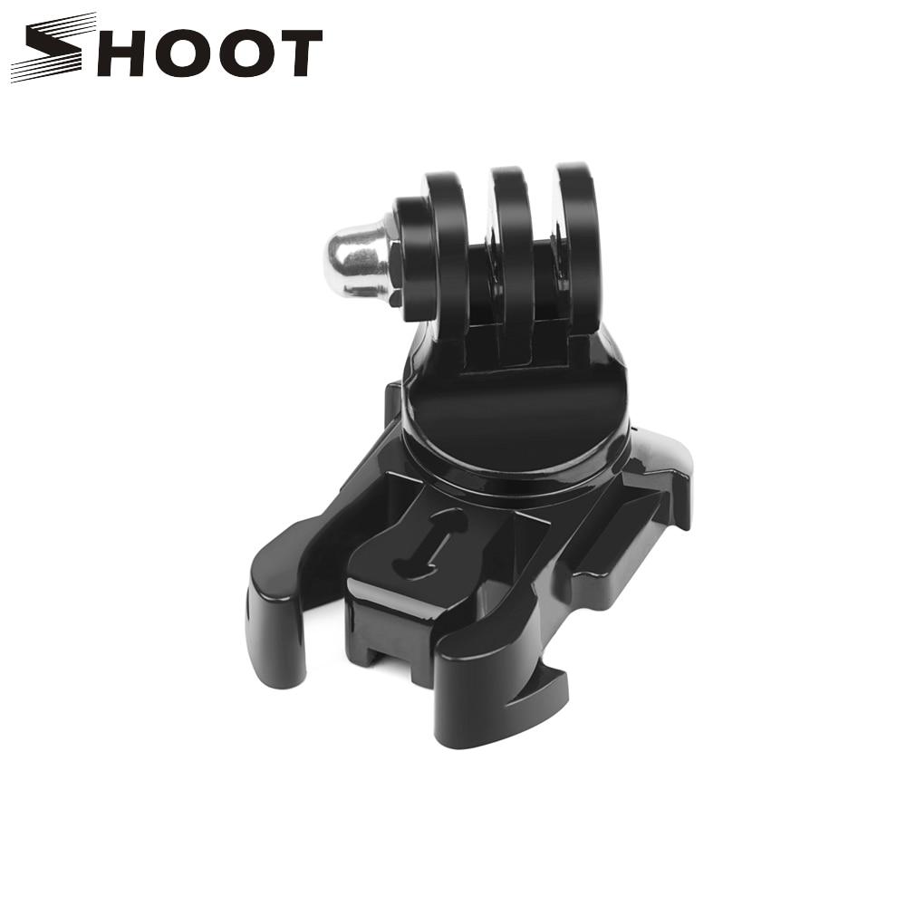 SHOOT 360 Degree Rotate Quick Release Buckle Vertical Surface J-Hook Mount for GoPro Hero 9 8 7 5 Sjcam Yi 4K Eken Action Camera 1pcs j hook buckle surface mount for yi sjcam sj4000 sj5000 sj7000 for gopro 7 6 5 4 3 action camera