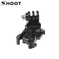 Вращающаяся на 360 градусов быстросъемная пряжка, Вертикальное Крепление J-Hook для экшн-Камеры GoPro Hero 9 8 7 5 Sjcam Yi 4K Eken