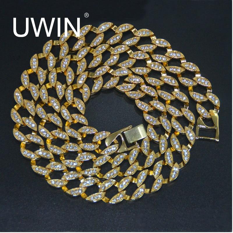 UWIN Рэппер хип-хоп мужское ожерелье Bling Iced out 30