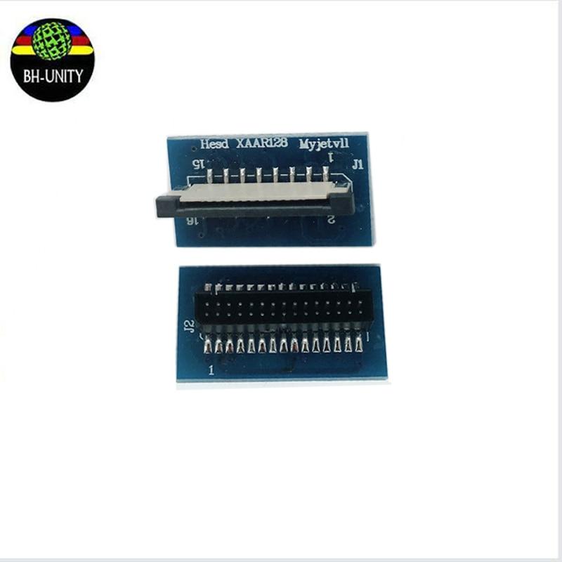 8 unids/lote ¡envío rápido! Piezas de Repuesto de impresora Myjet mini tarjeta de transferencia Xaar 128 Tarjeta de conector de cabezal de impresión