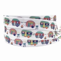 10yards 16mm camper printed fold over elastic band diy elastic hair tie band clothing accessories headwear elastic band
