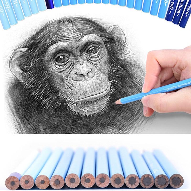 CHENYU 24Pcs Professional Hard Medium Soft Sketch Charcoal Pencils Drawing Pencils Set For School Standard Pencil Art Supplies