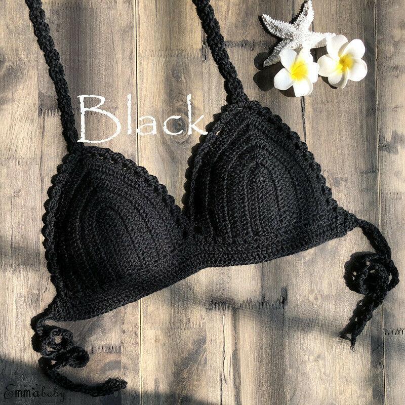Marca de verão 2020 nova mujer brasileiro crochê biquíni maiô micro biquinis mulheres malha sutiã beachwear mini biquinis
