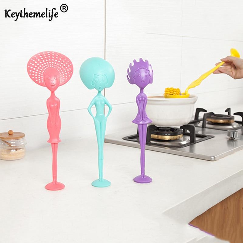 Keythemelife 1 шт. оригинальная ложка для супа длинная ручка в форме человека кухонные