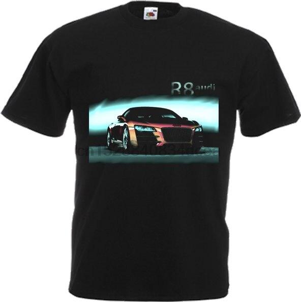 Camiseta guay de verano 2019, camiseta alemana para fans del coche R 8 COUPE 5,2 FSI QUATTRO, cualquier color y cualquier talla, camiseta divertida