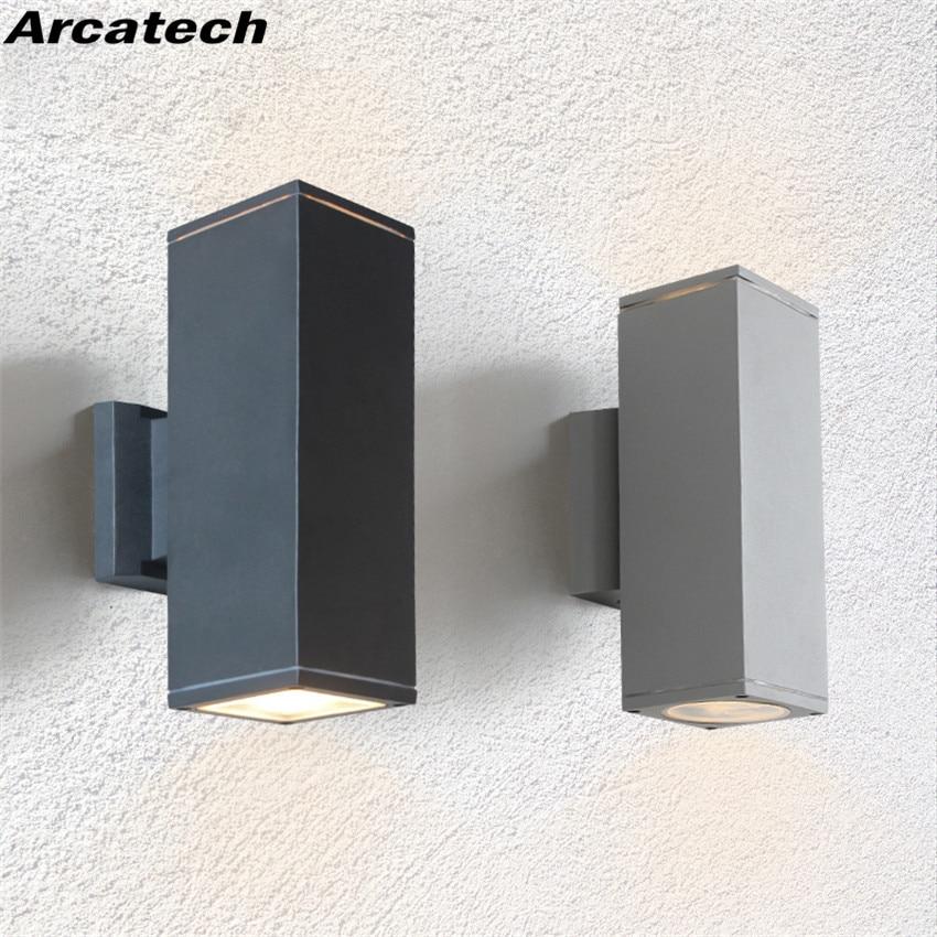 في الهواء الطلق إضاءة مقاومة للماء جدار مصابيح IP65 AC85-265V E27 LED لمبات الألومنيوم فناء حديقة الشرفة الممر أضواء NR39