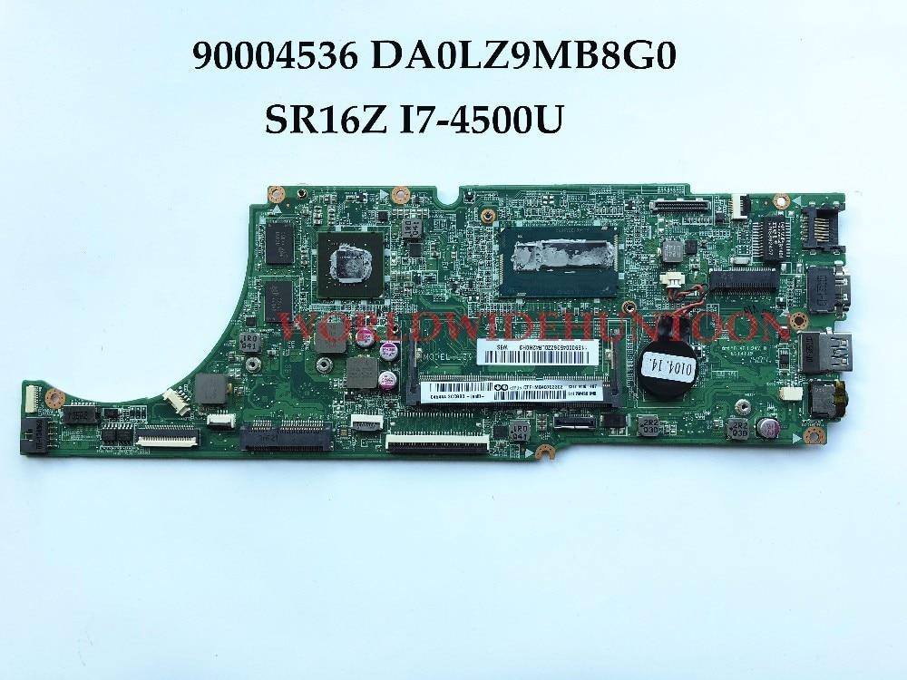 Wholesale DA0LZ9MB8G0 For Lenovo Ideapad U530 U530P Laptop Motherboard 90004536 SR16Z I7-4500U DDR3L 2GB 100% Fully Tested