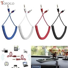 TOFOCO 3.5 Jack AUX Audio câble 3.5 MM mâle à mâle câble pour téléphone voiture haut-parleur MP4 casque 3.5 MM prise à Jack câbles à ressort