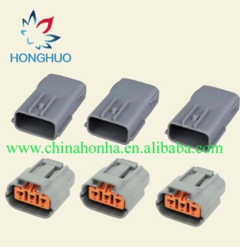 Lote de 5/10/20/50 Uds. De 3 pines DL 090 macho hembra para Cable impermeable Sumitomo, conector RX8, bobina de encendido 6195-0012 y 6195-0009