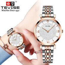 New TEVISE Women Luxury Brand Watch Simple Quartz Lady Waterproof Wristwatch Female Fashion Casual W