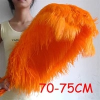 20pcs 70 75cm 28 30 fluffy orange ostrich feather ostrich plumes wedding centerpieces costumes diy dancing feather sk325