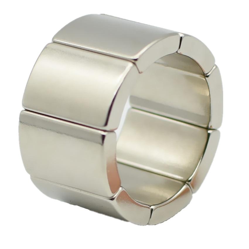 Ímã forte do motor do arco or18xir14x45deg. x20 mm n42h do ímã de ndfeb para o ímã permanente do neodímio da turbina eólica dos geradores