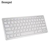 Vococal Russian English Wireless Bluetooth Keyboard Key Board Keypad for Windows Android IOS Phone Tablet Laptop Lenovo Xiaomi