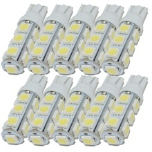 Safego-lampe de remplacement de lampoule à cale   T10 W5W 194 168 2825 5050 5000 6000, lampe intérieure de voiture SMD K K, blanc chaud