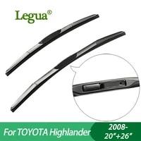 legua wiper blades for toyota highlander 2008 2026car wiperhybrid type rubber windscreen wipers car accessory