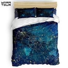 WARMTOUR  Duvet Cover Star Map City Lights Duvet Cover Set  4 Piece Bedding Set For Beds  DHL Shipping Method
