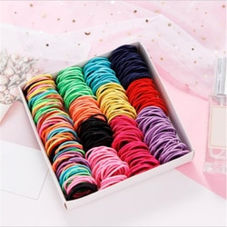 Elástico de nylon para meninas 3cm, elásticos de cabelo para crianças, cores pastéis acessórios