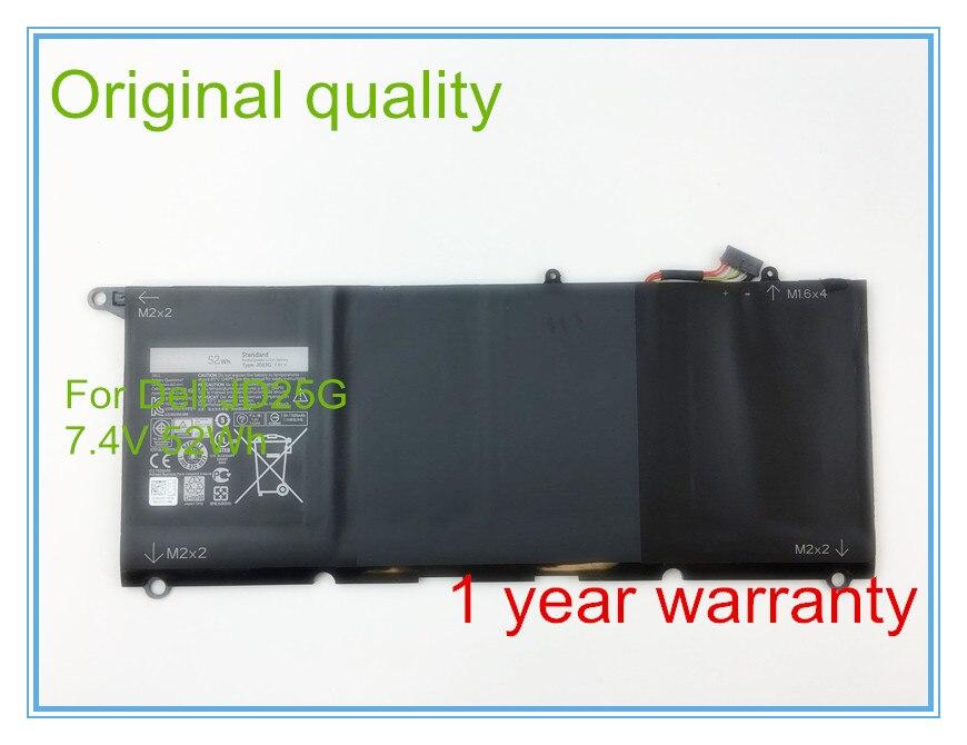 Original 7.4V 52Wh JD25G Battery for  13D  13D-9343 XPS 13D-9343-1808T series Laptop 0N7T6 0DRRP RWT