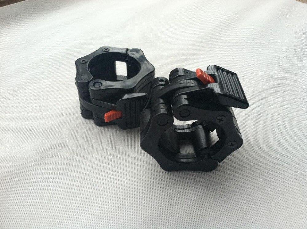 Nuevo 1 par de abrazaderas de barra de mandíbula de bloqueo para barras olímpicas-ejercicio cruzado