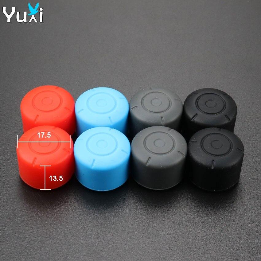 YuXi-Tapas de agarre de silicona antideslizantes para mando Joy-Con, cubierta analógica para...