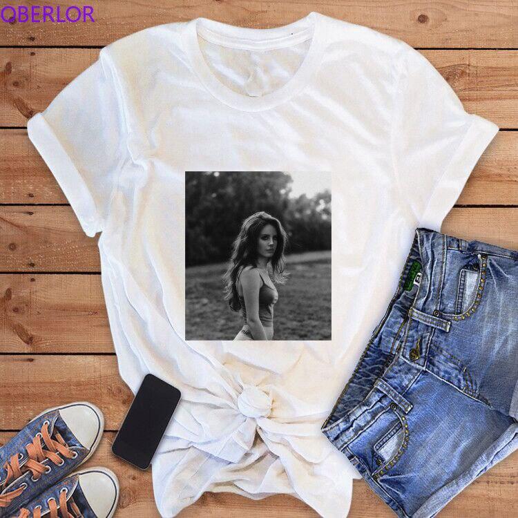 Camiseta de Lana Del Rey para mujer, ropa estética para mujer, camisetas gráficas sexis, camisetas de calle Ulzzang para mujer, camisas Harajuku