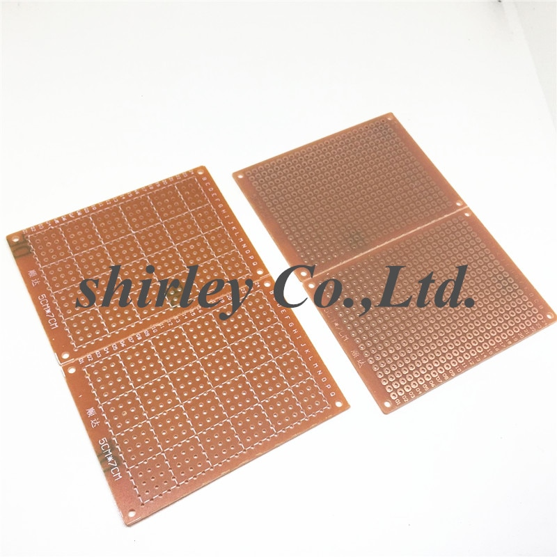 شحن مجاني 100 قطعة 5*7 PCB 5x7 PCB 5 سنتيمتر 7 سنتيمتر DIY نموذج ورقي عالمي PCB
