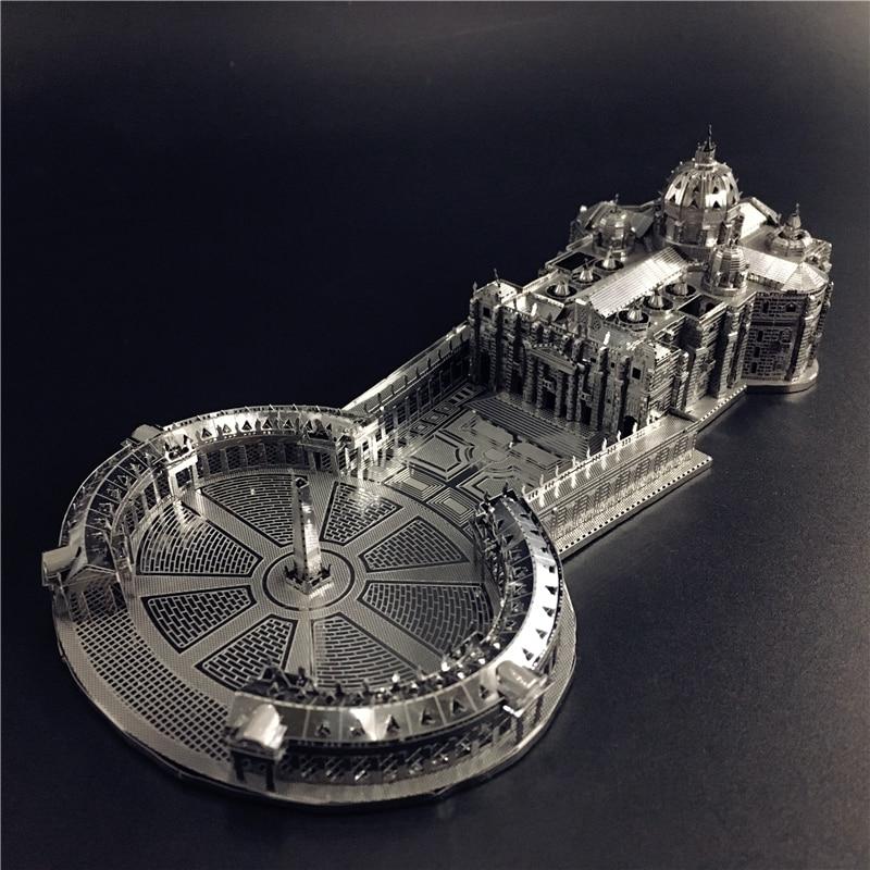 MMZ モデル南苑 3D 金属モデルキット 1:1000 STPETER'S 聖堂アセンブリモデル DIY 3D レーザーカットモデルパズルのおもちゃ大人