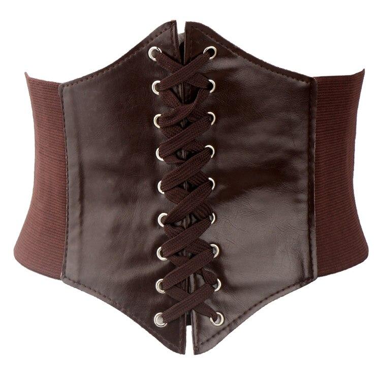 Free Shipping New Fashion Cummerbunds Wind Rope Waist Decoration Corset Wide Noble Leather Cummerbun