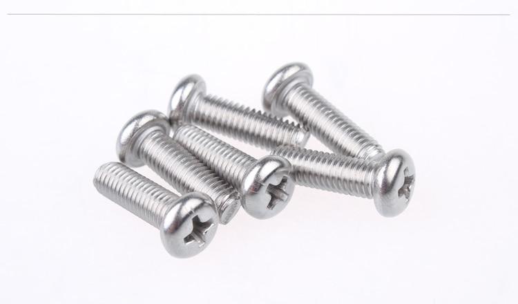 Tornillo de acero inoxidable 304 ISO7045 M4x12 tornillo cabeza plana cruciforme tornillo de cabeza redonda 10 Uds