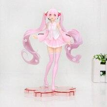 18cm Anime rose Hatsune Miku Sakura figurines jouets Miku Speelgoed filles PVC Figure modèle jouets