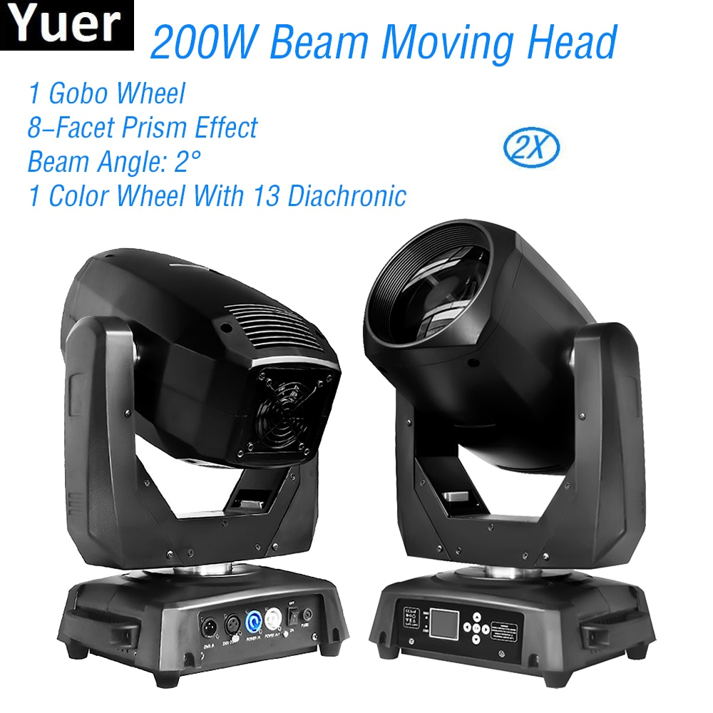 discount price 8 pack 180w 2r sharpy beam spot moving head light dmx512 for stage lighting dj disco club party dance wedding bar 2Pcs/Lot 200W Beam Spot 2IN1 Moving Head Light Stage Moving Head Lighting DMX512 14CH For DJ Disco Party Music Club Light