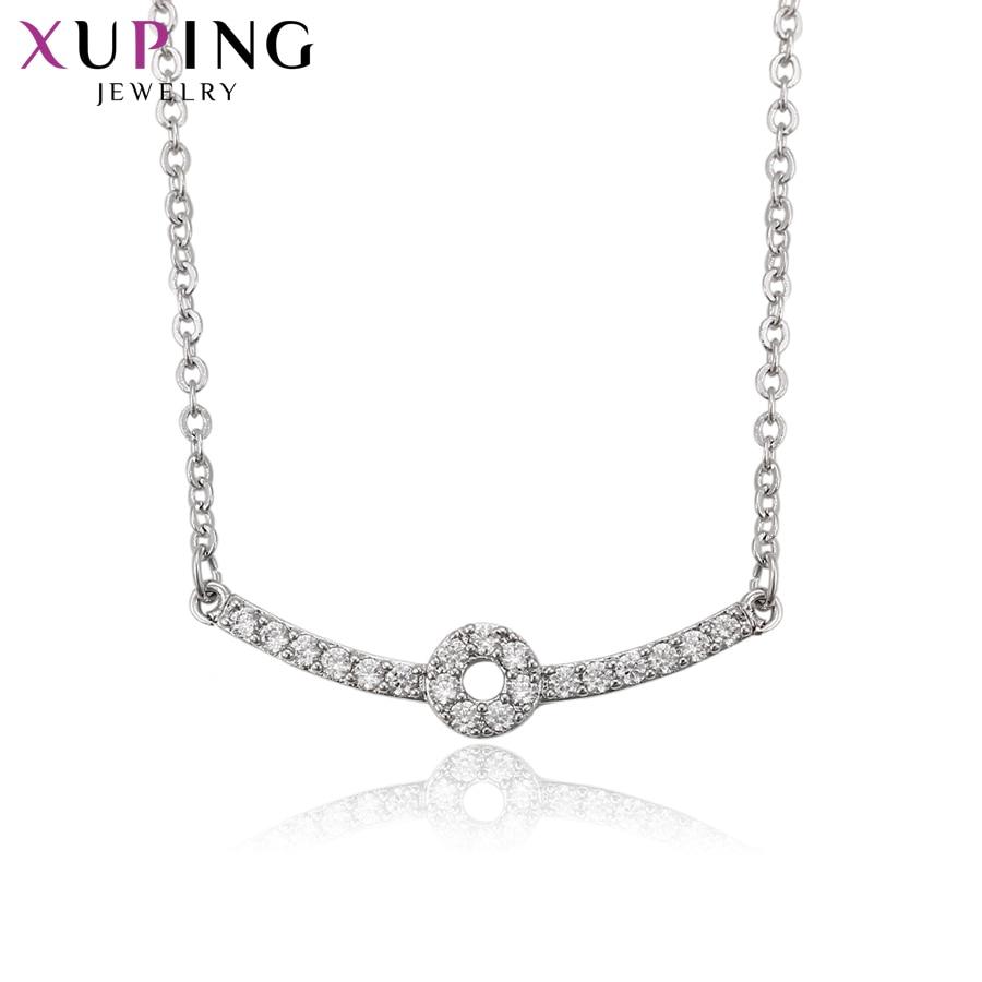 Xuping de lujo elegante collar con Zirconia cúbica sintética estilo encanto collar joyería de Día de Acción de Gracias regalo S70 2-41913