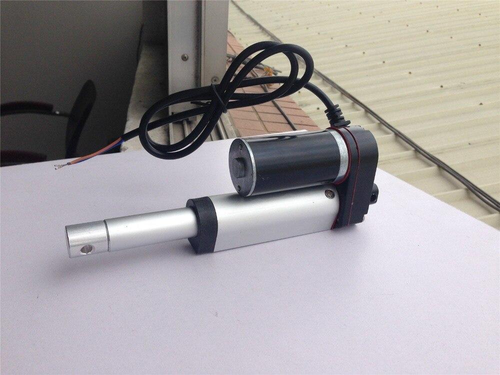 Actuador lineal de alta resistencia DC24V de 2 pulgadas, carrera de 50mm, 30 lb, 150 kg, para equipos de elevación máxima automatización, maquinaria de escenario