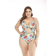 Swimsuit 2019 Swimwear Plus Size Women Big Push Up High Waist Mujer Suits 4xl Brazilian One Piece Oversize Onesies Fruit Print