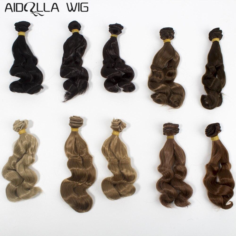 Größe für 1/6 1/4 1/3 BJD Puppe Perücken Hitze Beständig Draht Lockige Haar Verlängerung für DIY Handgemachte Puppe Haar Puppe zubehör