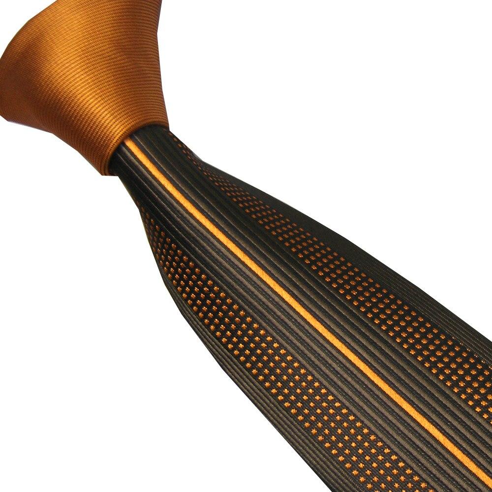 Corbatas de hombre LAMMULIN, nudo dorado, contraste gris con rayas verticales doradas, corbata delgada de microfibra, 6cm