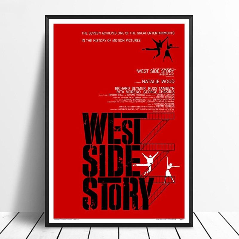 オリジナル西側ストーリー (1961) ヴィンテージ古典的な映画のポスター家の装飾壁の装飾壁アートキャンバス絵画cnavas印刷