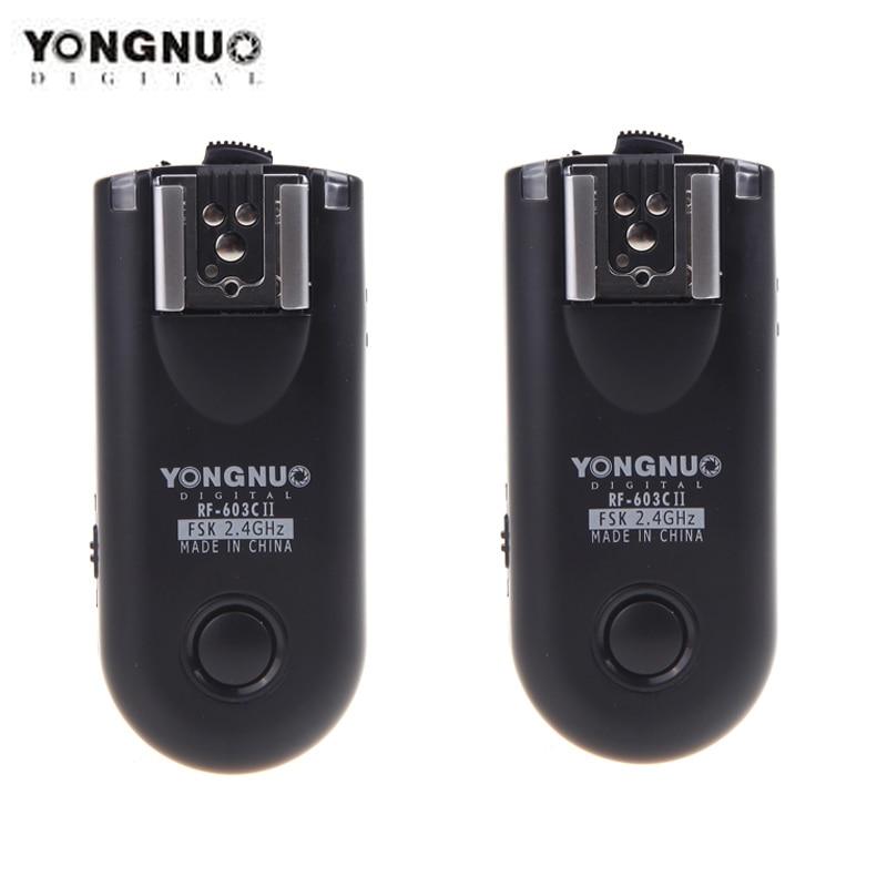 Yongnuo RF-603C II RF 603 C3 TTL Wireless Flash Trigger Transceiver for Canon 60D 350D 450D 500D 550D 1000D Flash Trigger
