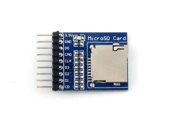 10 unids/lote Micro SD de almacenamiento de memoria Micro SD Módulo de placa de Desarrollo apoya SDIO Interfaces SPI