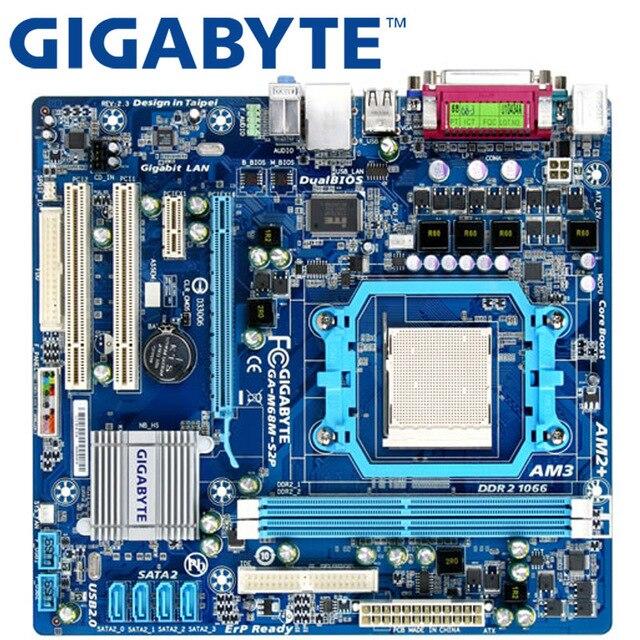 GIGABYTE GA-M68M-S2P placa base de escritorio 630A hembra AM2/AM2 + AM3 para...