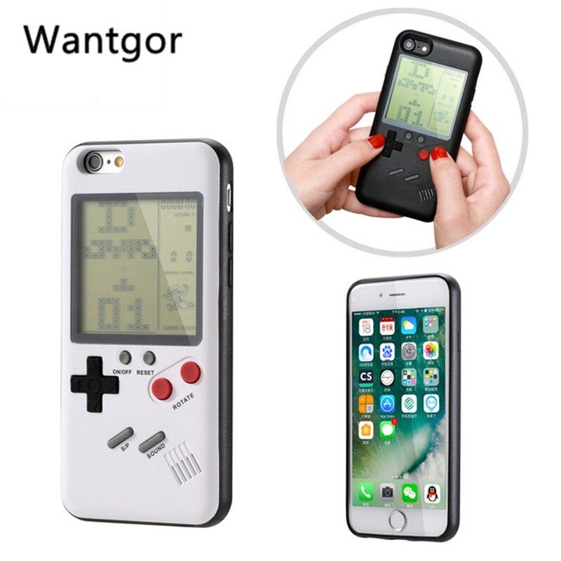 Retro Tetris Gameboy teléfono caso para iPhone 7 De Apple 8 Plus TPU suave juego chico carcasa del teléfono para iPhone X 6 6s 8 Plus funda coque