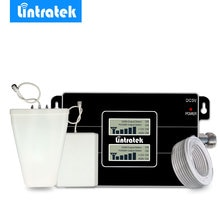 Lintratek novo lcd signal booster gsm 900 mhz 3g umts 2100 mhz telefone celular amplificador repetidor para mts, megafon, beeline, tele2.